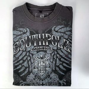 SOUTH POLE DARK GRAY  T-SHIRT GRAPHIC DESIGN